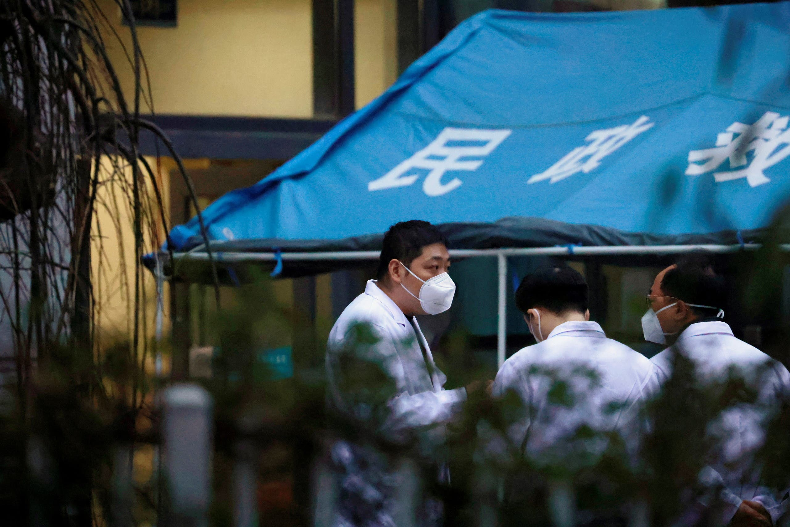 A member of the Wuhan Health Organization team