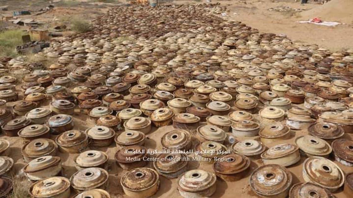 حجة اليمن الجيش يلفت ألغام حوثية الألغام الحوثية 20 يناير 2021