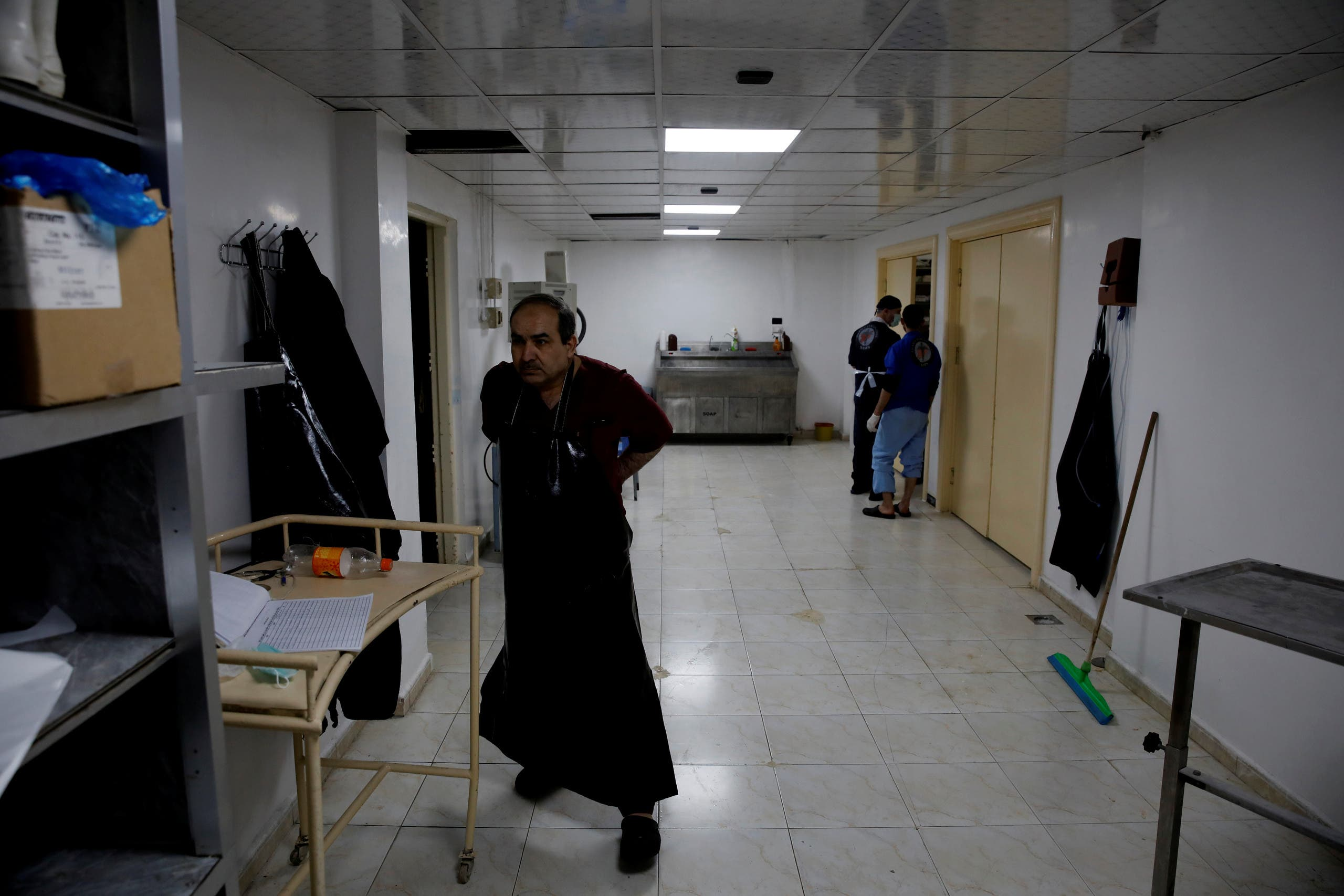 داخل یک بیمارستان فرسوده در ادلب (بایگانی)