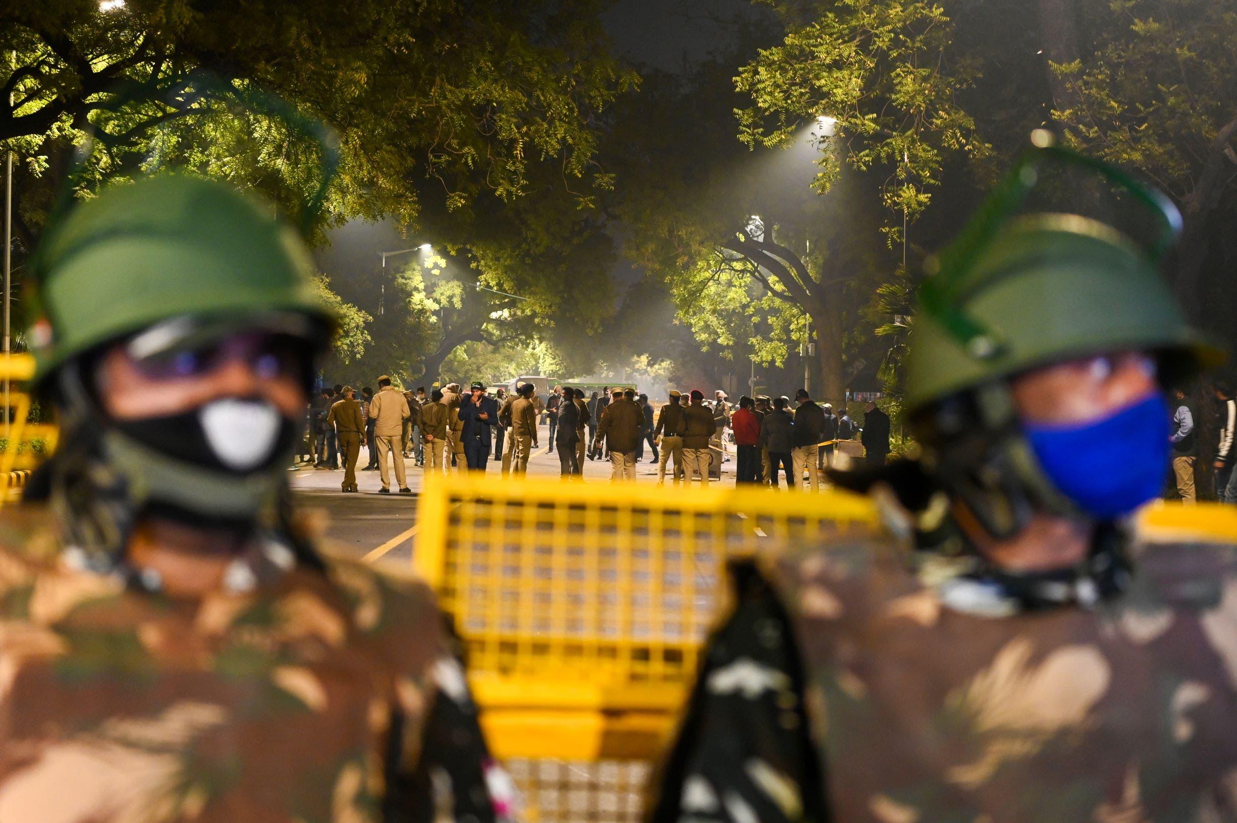 من موقع  التفجير قرب السفارة الإسرائيلية بالهند