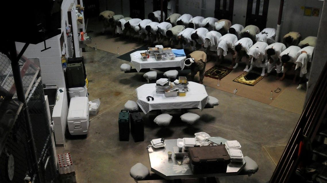 File photo of detainees praying in a communal area of Camp Six at Joint Task Force Guantanamo. (Reuters)