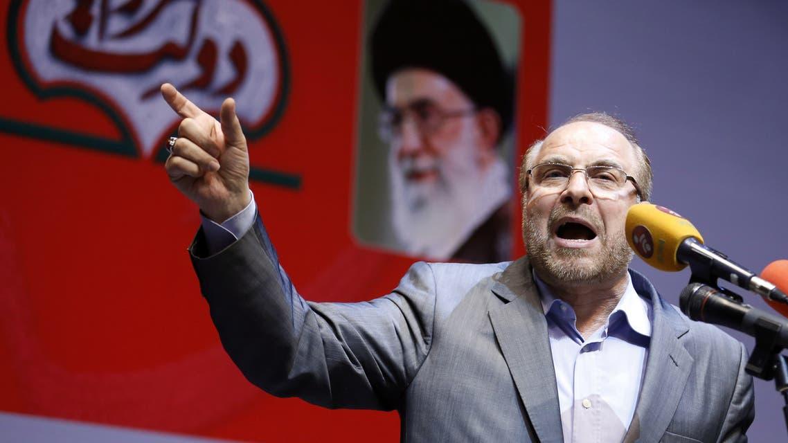 محمد باقر قاليباف ، رئيس البرلمان الإيراني (مجلس الشورى) أرشيفية، فرانس برس