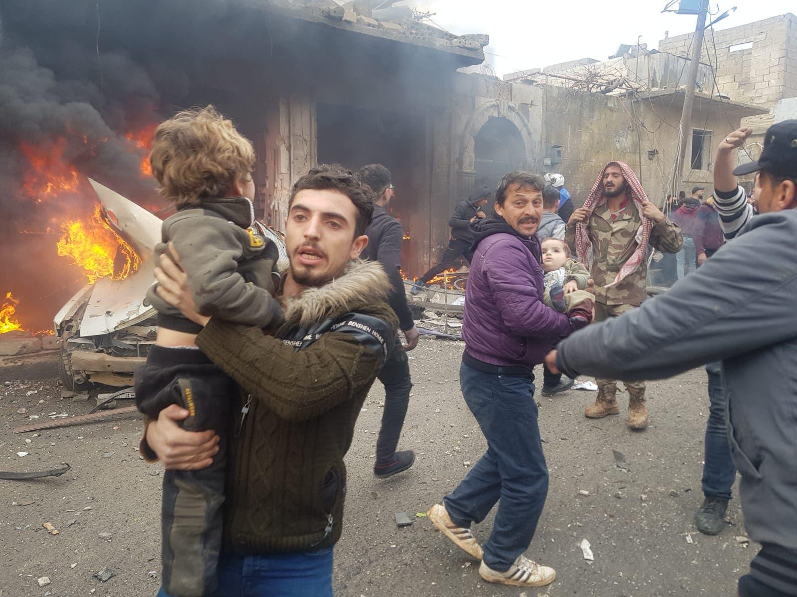 من انفجار في سوريا