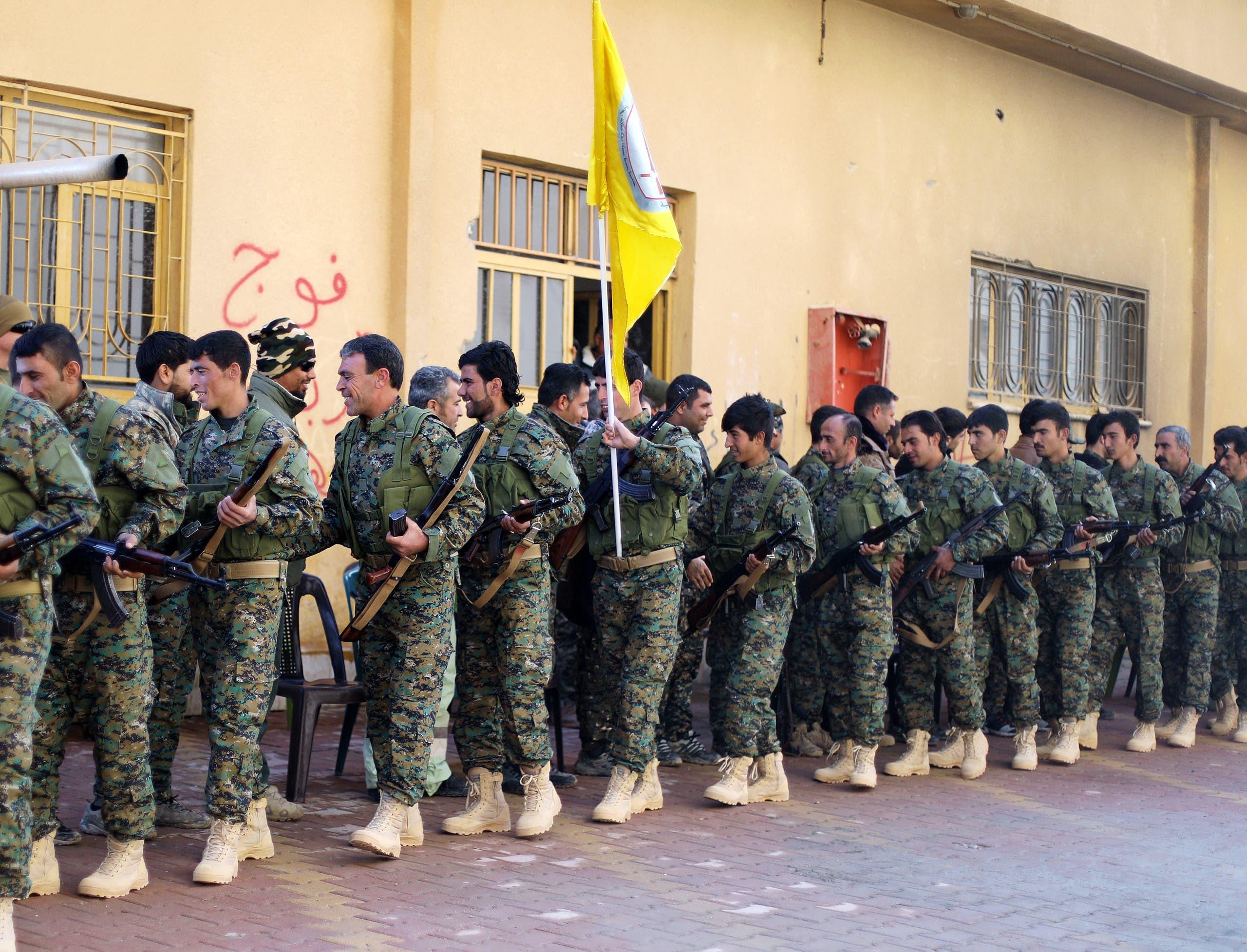 نیروهای دموکراتیک سوریه در حساکا (رویترز)