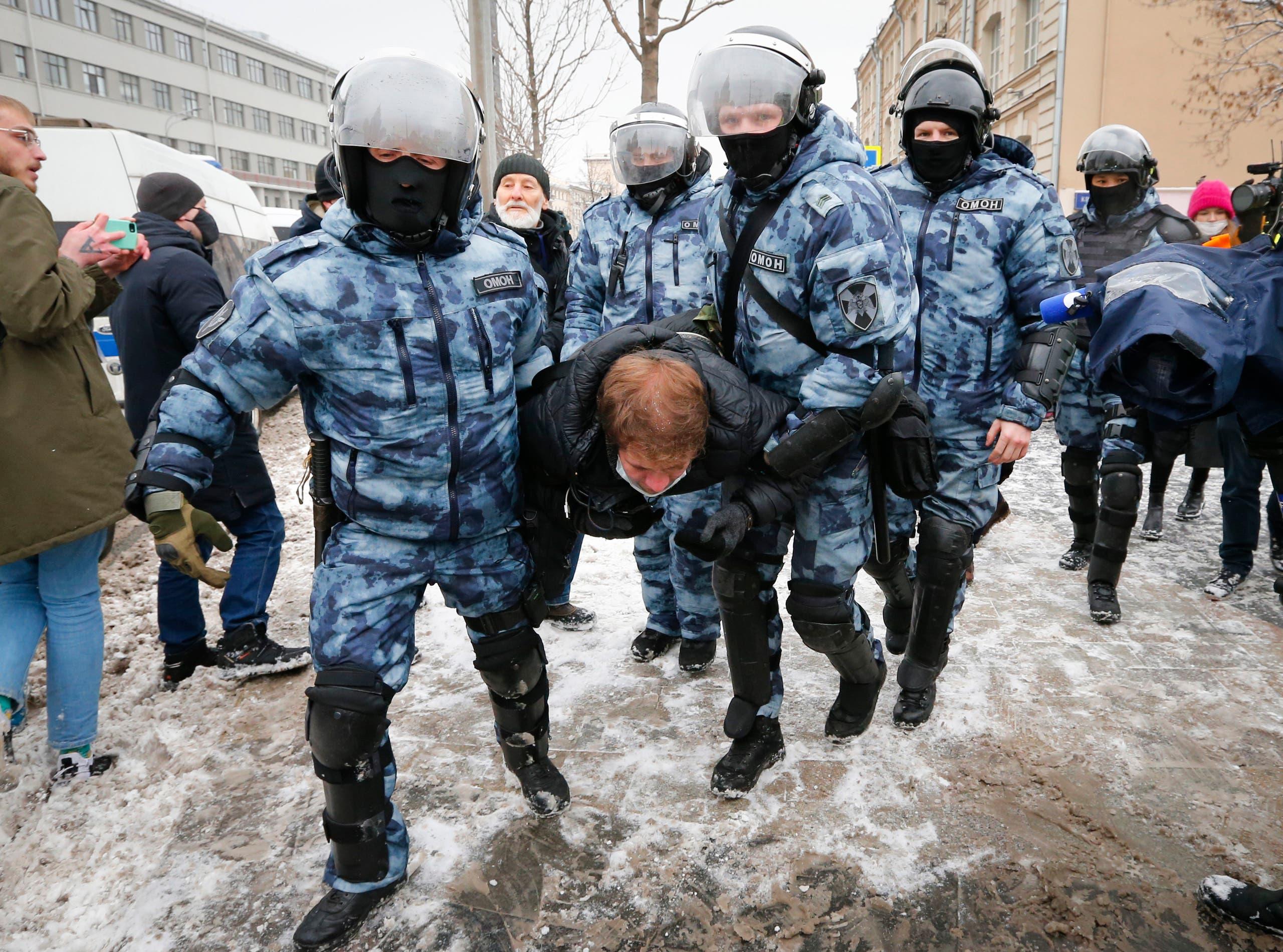 دستگیری در اعتراضات روز یکشنبه گذشته در مسکو