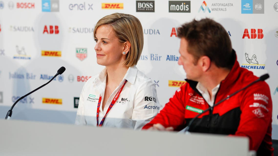 Venturi racing boss Susie Wolff at a Foruma E press conference in Royadh, Saudi Arabia (Supplied)