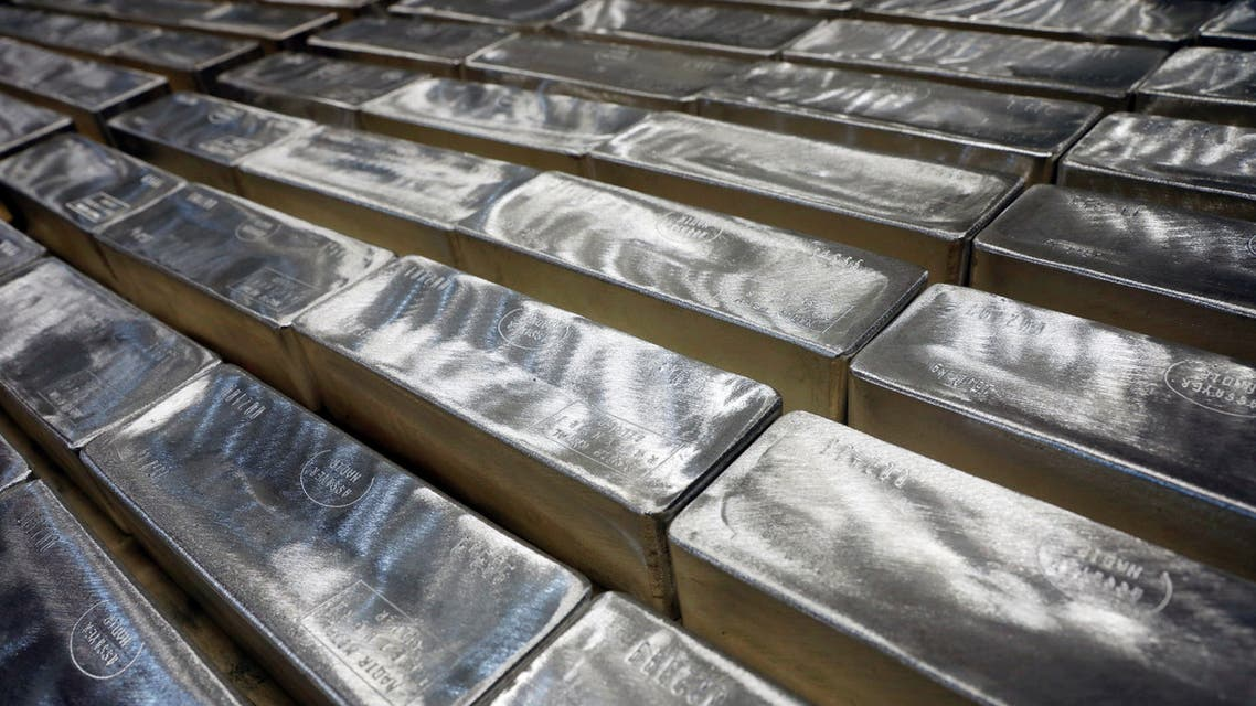 Silver bars are pictured in Silver Bullion's vault in Singapore June 18, 2019. Picture taken June 18, 2019. REUTERS/Edgar Su
