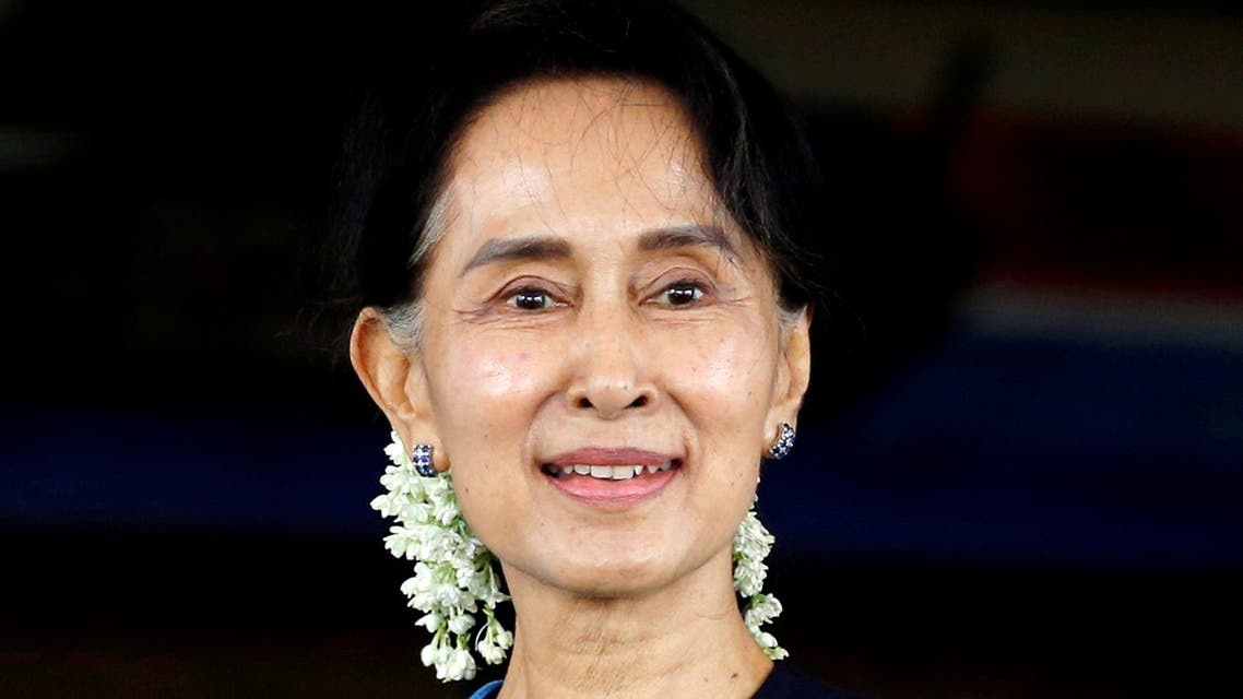 Myanmar's Foreign Minister Aung San Suu Kyi smiles at Myanmar's Foreign Ministry in Naypyitaw, Myanmar July 6, 2017. (File photo: Reuters)