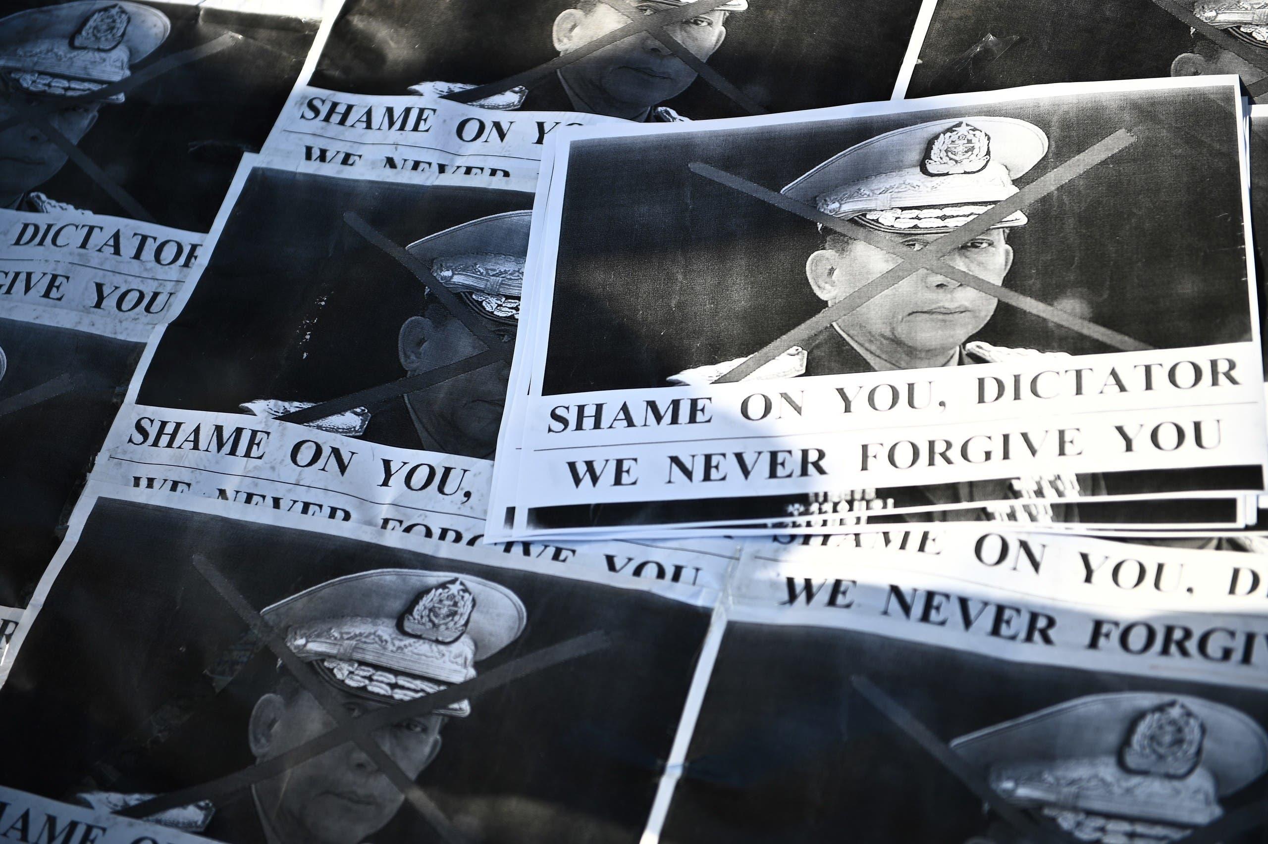 عکس رئیس ارتش میانمار مین اونگ هلاینگ (رویترز)