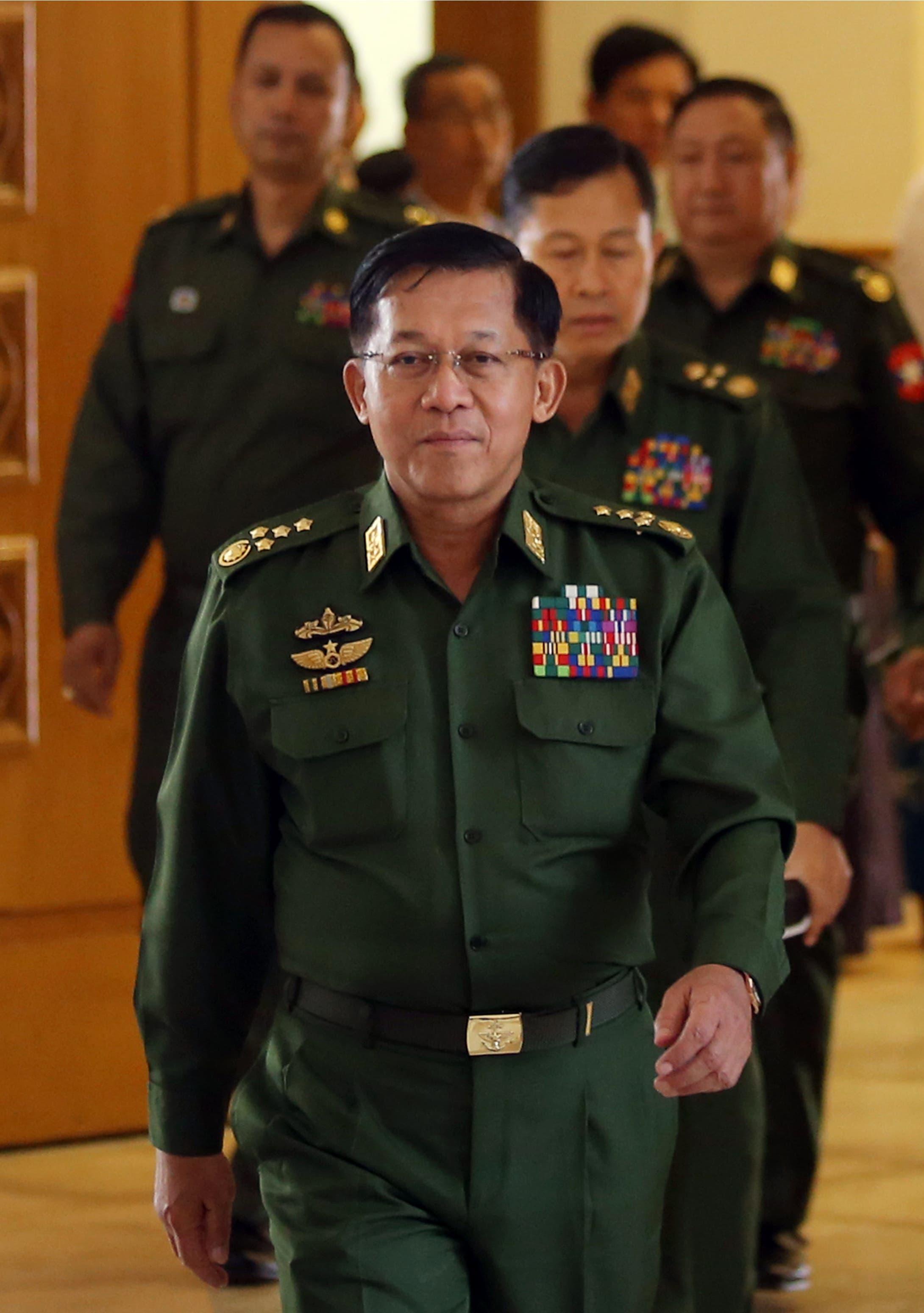رئیس ارتش میانمار مین اونگ هلاینگ (رویترز)