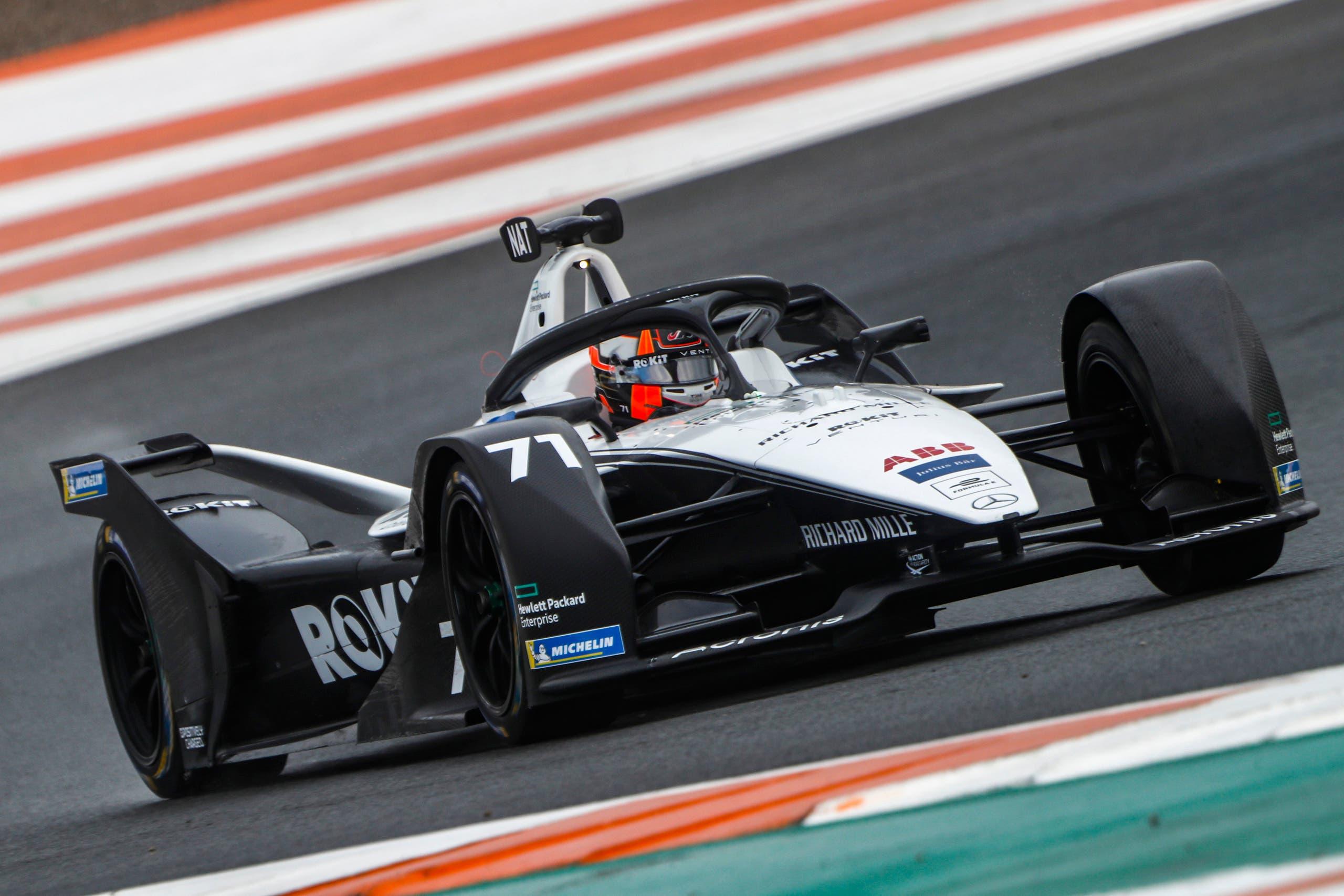 A Venturi Racing car in Formula E (Supplied)
