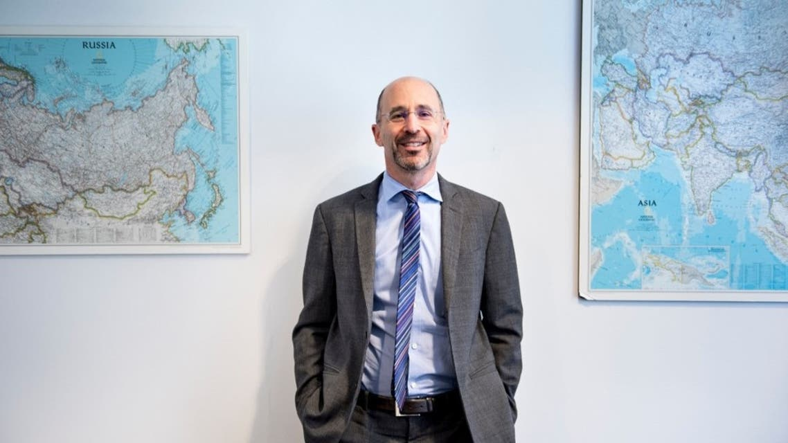 In this file photo taken on May 07, 2018 Robert Rob Malley, former US negotiator during the Iran nuclear program negotiations and current CEO at the International Crisis Group, poses in his office May 7, 2018 in Washington, DC. (AFP)