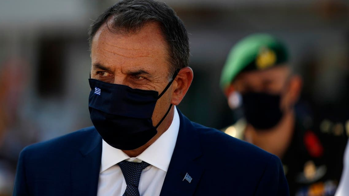 Greek Defense Minister Nikos Panagiotopoulos. (AP)