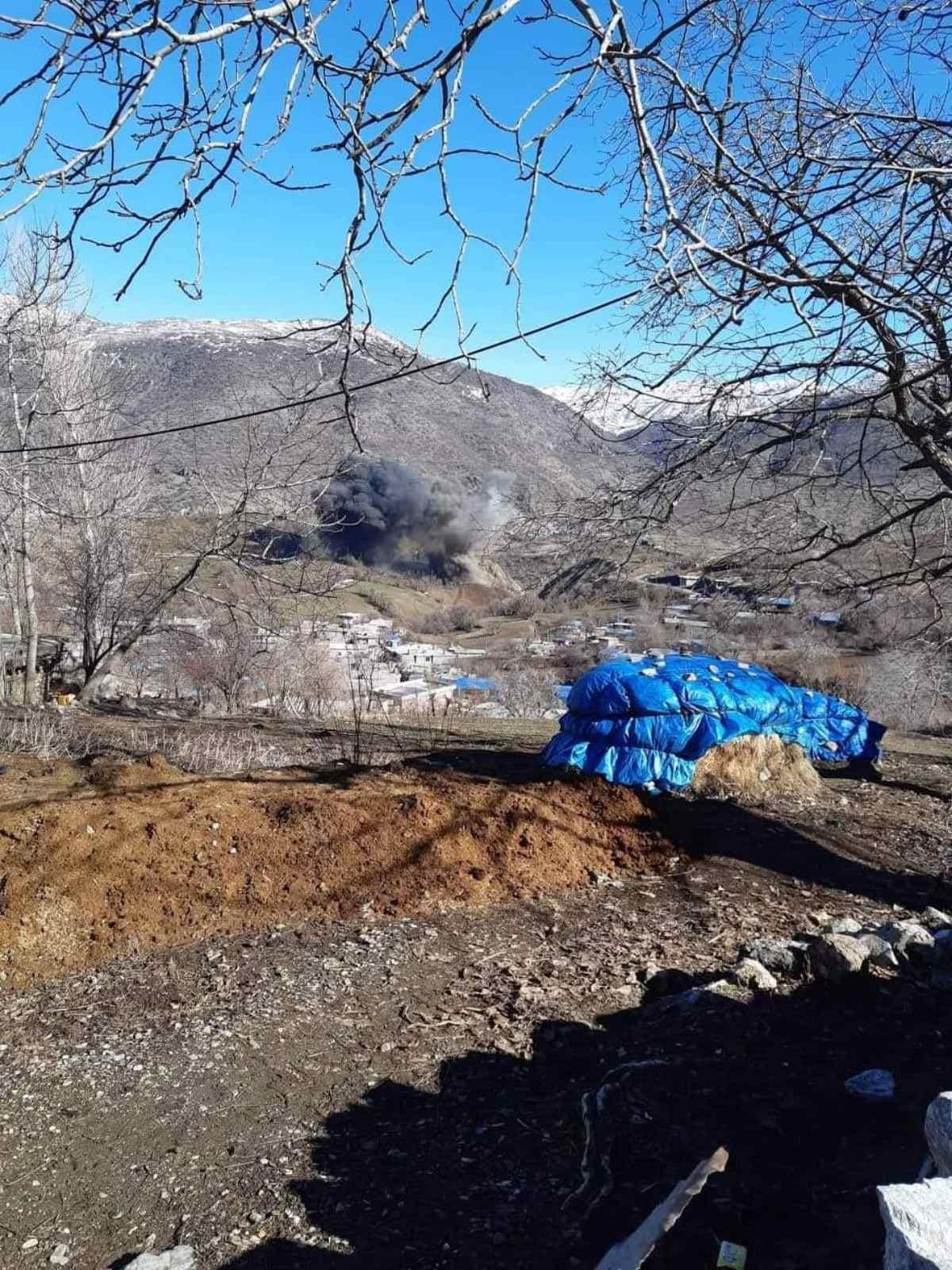 از بمباران امروز ترکیه بر فراز روستاهای کردنشین در سلیمانیه