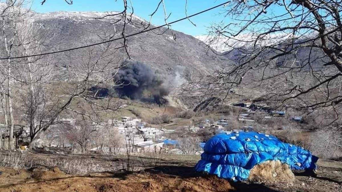 2 فبراير 2021 تركيا تقصفبالصواريخ قرى كردية  بمحافظة السليمانية في العراق