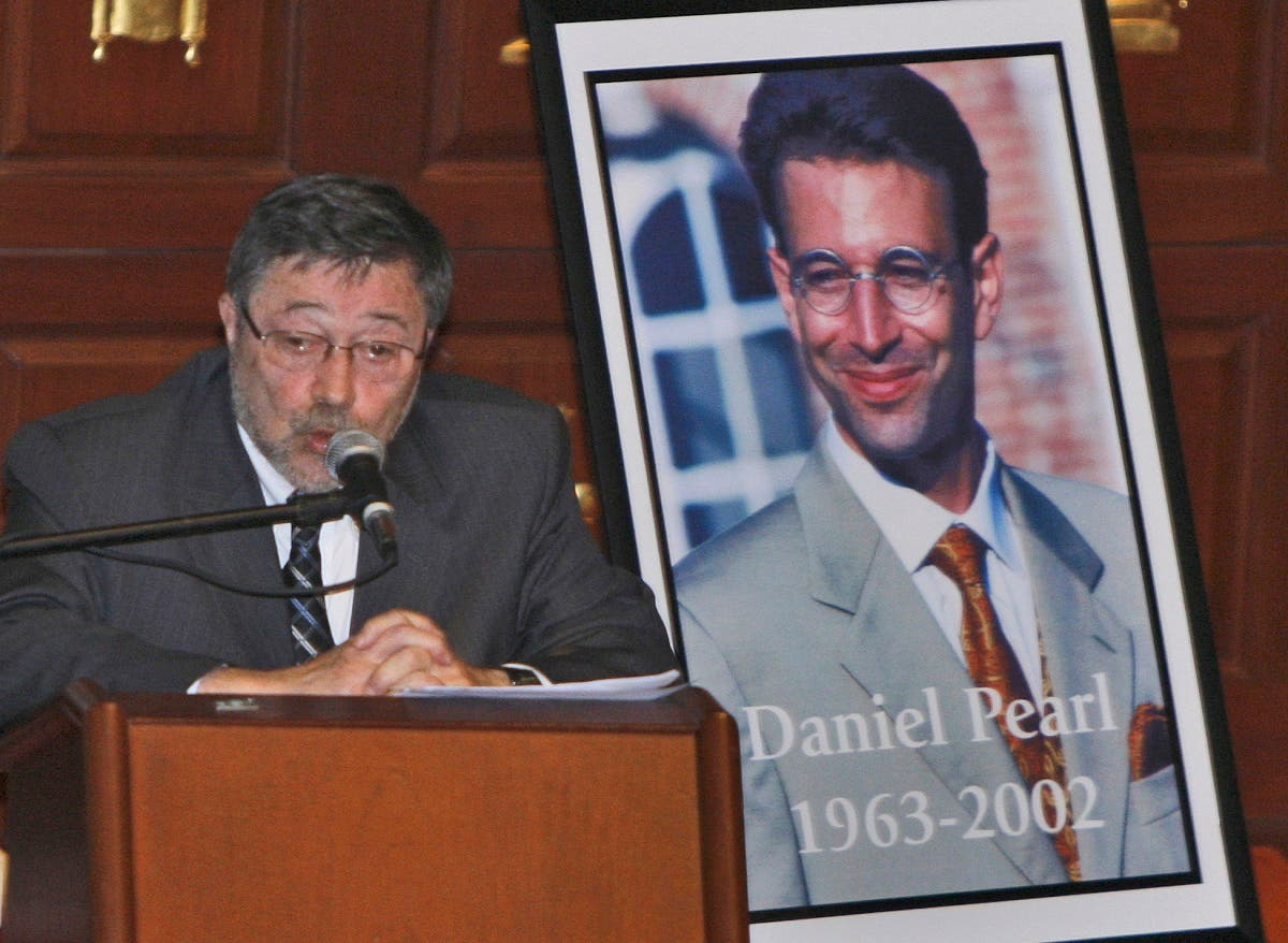 In this April 15, 2007, file photo, Dr. Judea Pearl, father of American journalist Daniel Pearl, who was killed by terrorists in 2002, speaks in Miami Beach, Florida. (AP)