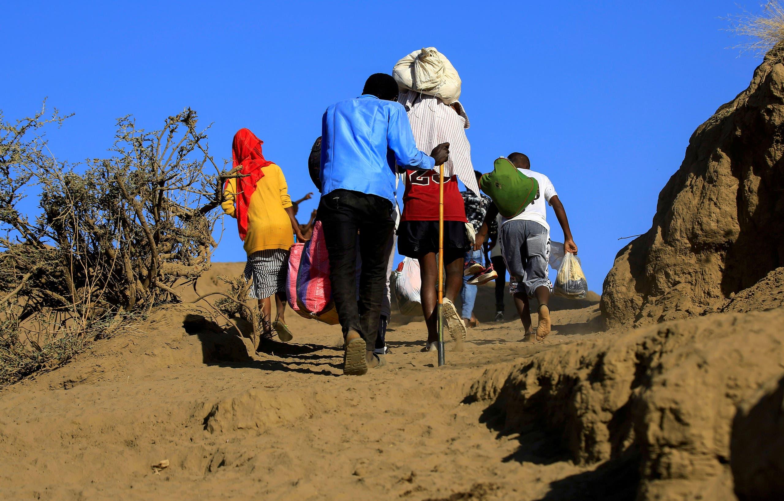 لاجئون من إقليم تيغراي الإثيوبي يهربون إلى السودان (أرشيفية)