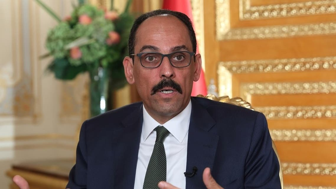 Turkish president spokesman Ibrahim Kalin is pictured during an interview with Reuters in Istanbul, Sept. 27, 2020. (Reuters)