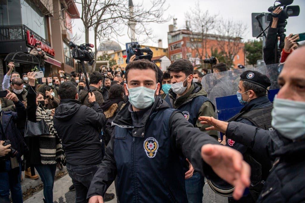 احتجاجات الطلاب في جامعة بوغازيتشي في اسطنبول