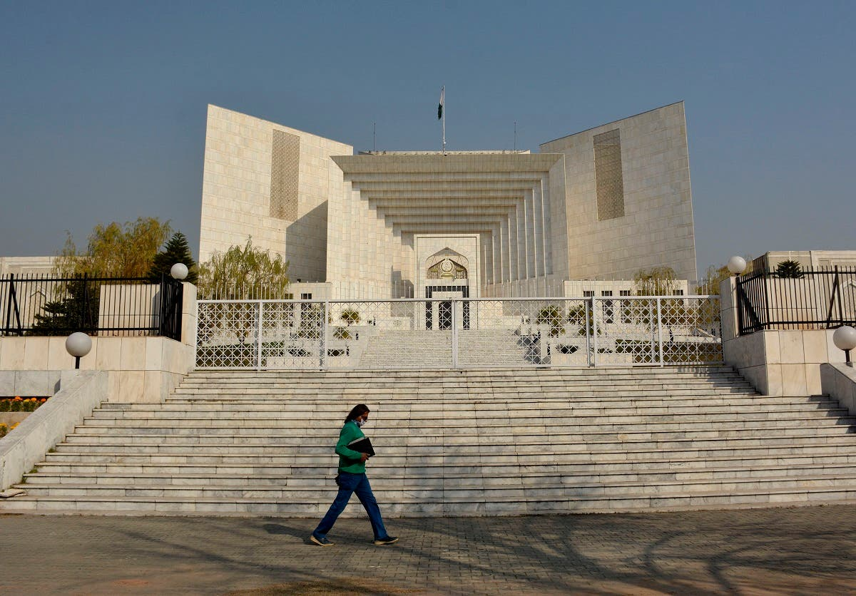 The Supreme Court, in Islamabad, Pakistan, where the appeal hearing in the Daniel Pearl murder case was held on January 28, 2021. (AP)