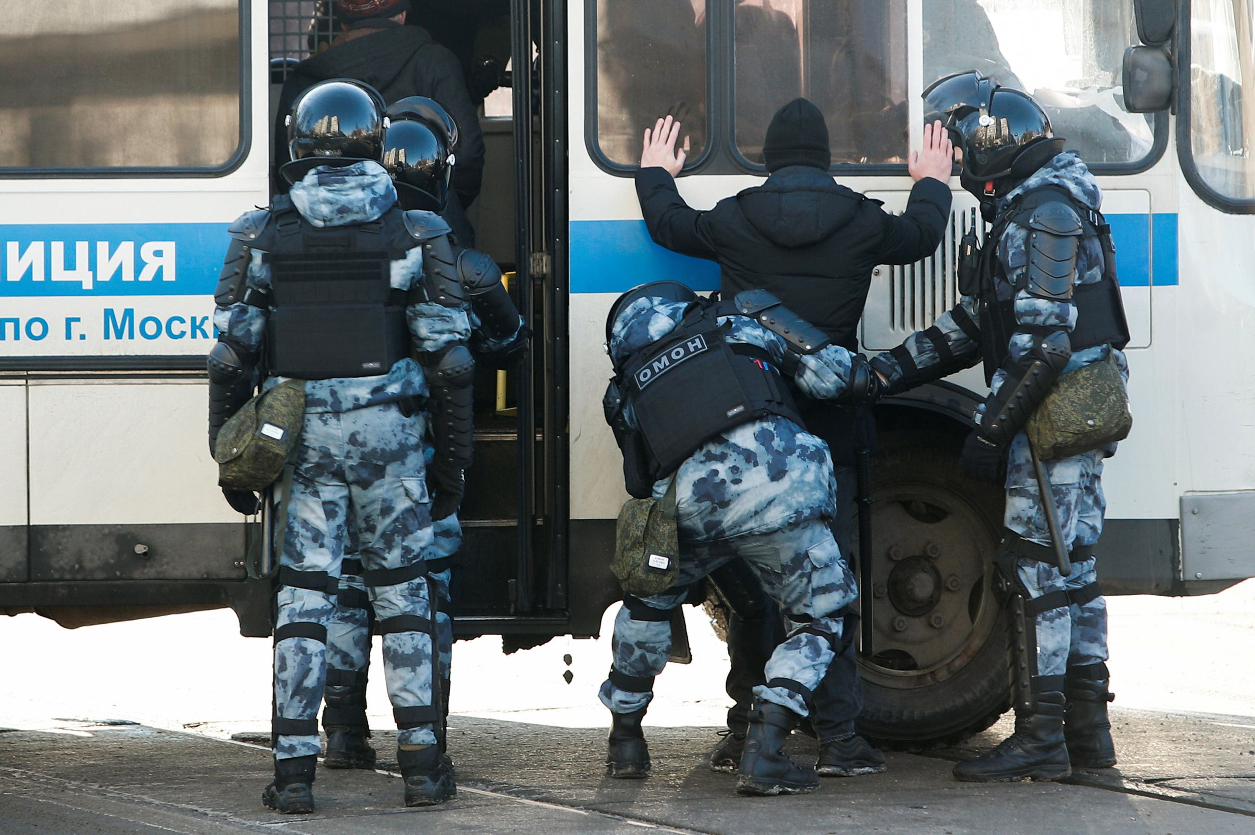 دیروز پلیس در مسکو اعتراض به نفالنی را متوقف کرد
