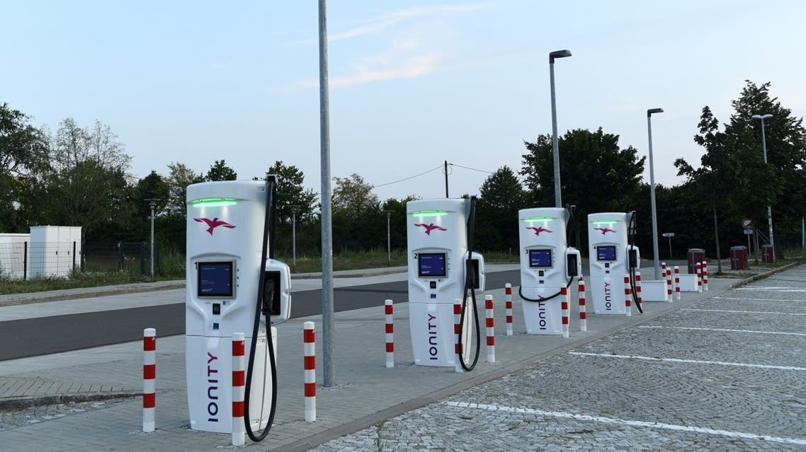 "An Ionity electric vehicle charging station is pictured on the motorway service station ""Dresdner Tor Sued"" near Dresden, Germany. (File photo: Reuters)"