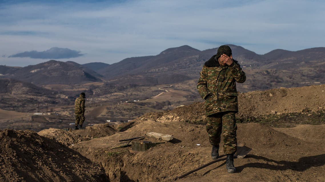 Occupied by Azerbaijani forces and partially recaptured, the village of Taghavard, in Nagorno-Karabakh was split in two by a ceasefire to temporarily resolve the issues between Azerbaijan and Armenia on the disputed territory. (Twitter)