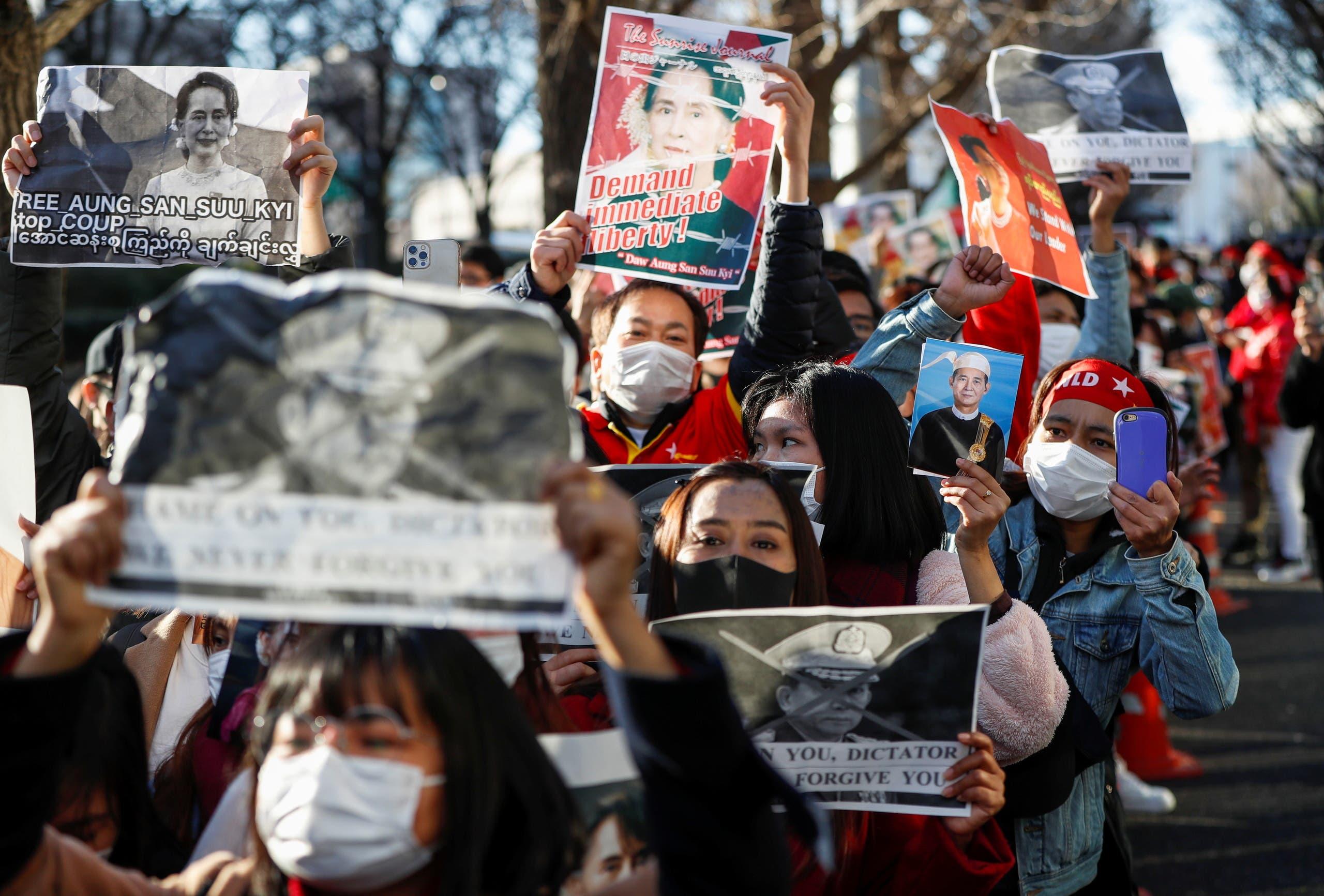 از تظاهرات امروز توکیو