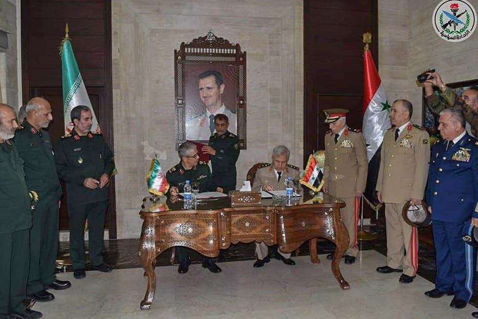 توافق نامه هایی که در ژوئیه سال 2020 بین ارتش ایران و ارتش رژیم سوریه در دمشق امضا شد
