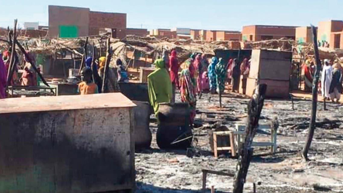 دمار وحرائق في مدينة الجنينة بولاية غرب دارفور