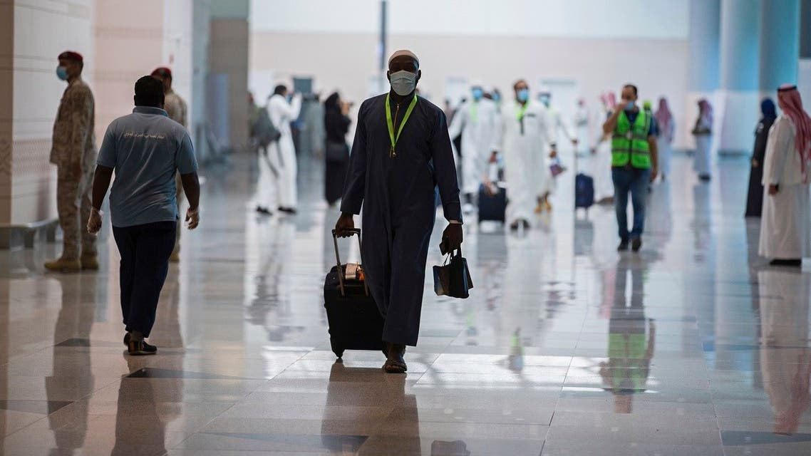 Pilgrims arrive to King Abdulaziz Airport for the Hajj pilgrimage to Mecca, in Jeddah, Saudi Arabia. (File photo: AP)