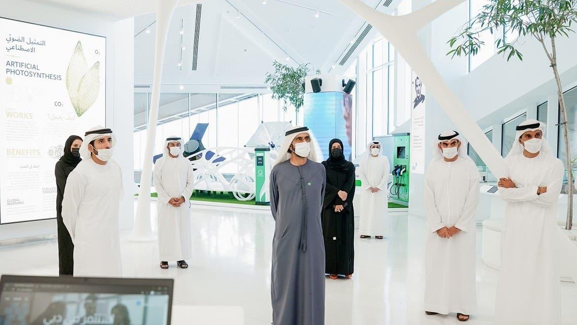 Sheikh Mohammed bin Rashid Al Maktoum, Vice President and Prime Minister of the UAE and Ruler of Dubai, at the meeting of the Executive Council on February 2, 2021, in Dubai. (Courtesy: WAM)