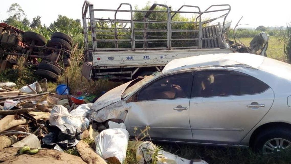 A photo from the Kasese accident scene in Kampala, Uganda on Feb 3, 2021. (Twitter)