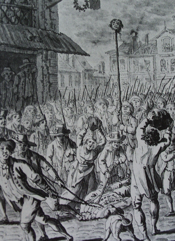 رسم تخيلي لعملية سحل جثة فولون