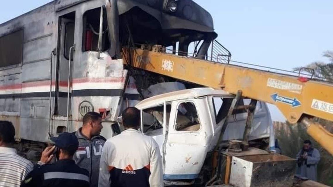 حادث قطار في مصر