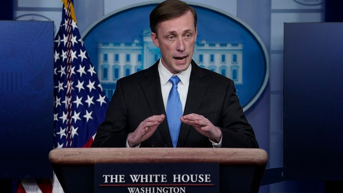 National security adviser Jake Sullivan speaks during a press briefing at the White House, Feb. 4, 2021, in Washington. (AP)