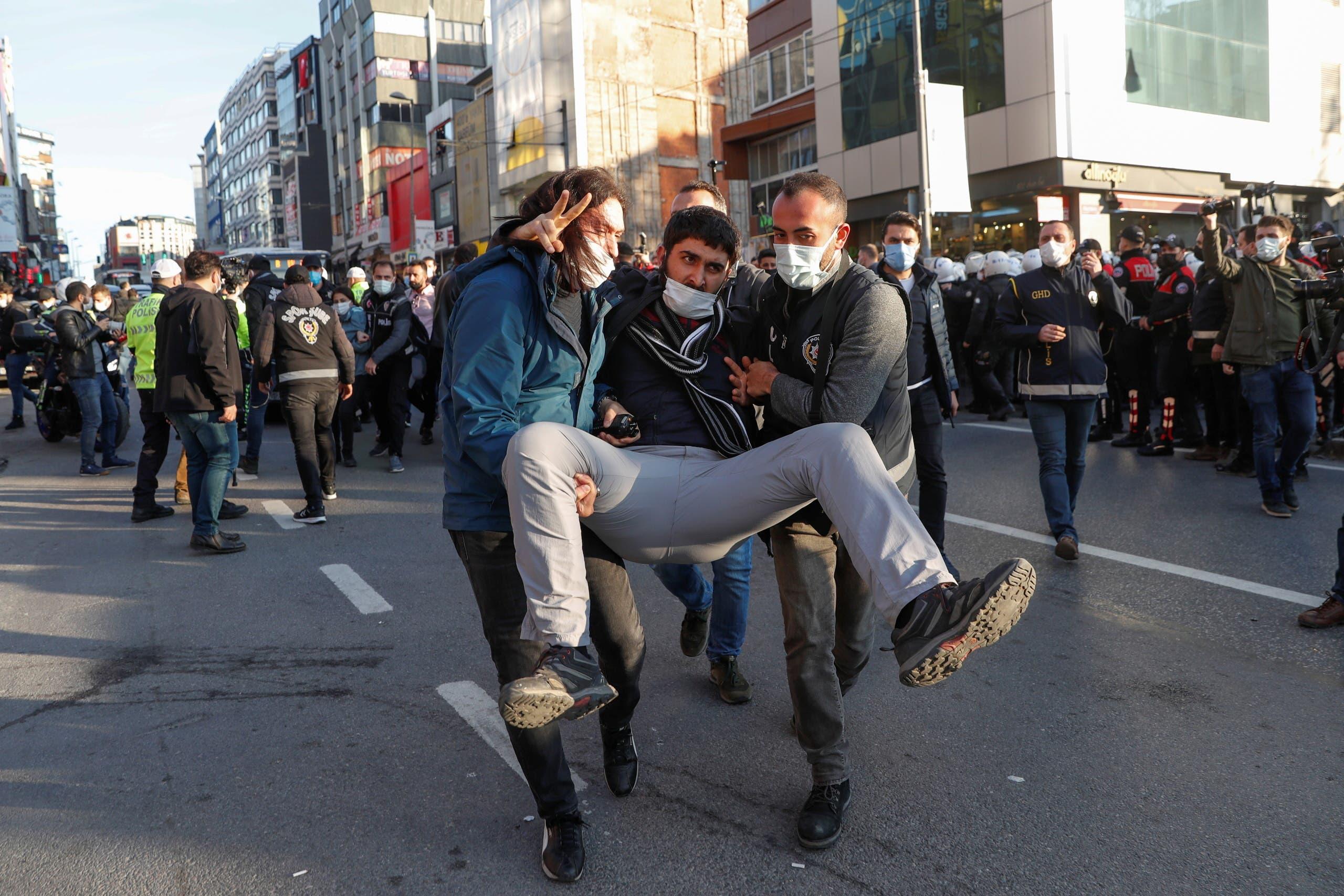 من احتجاجات جامعة بوغازيتشي يوم 4 فبراير