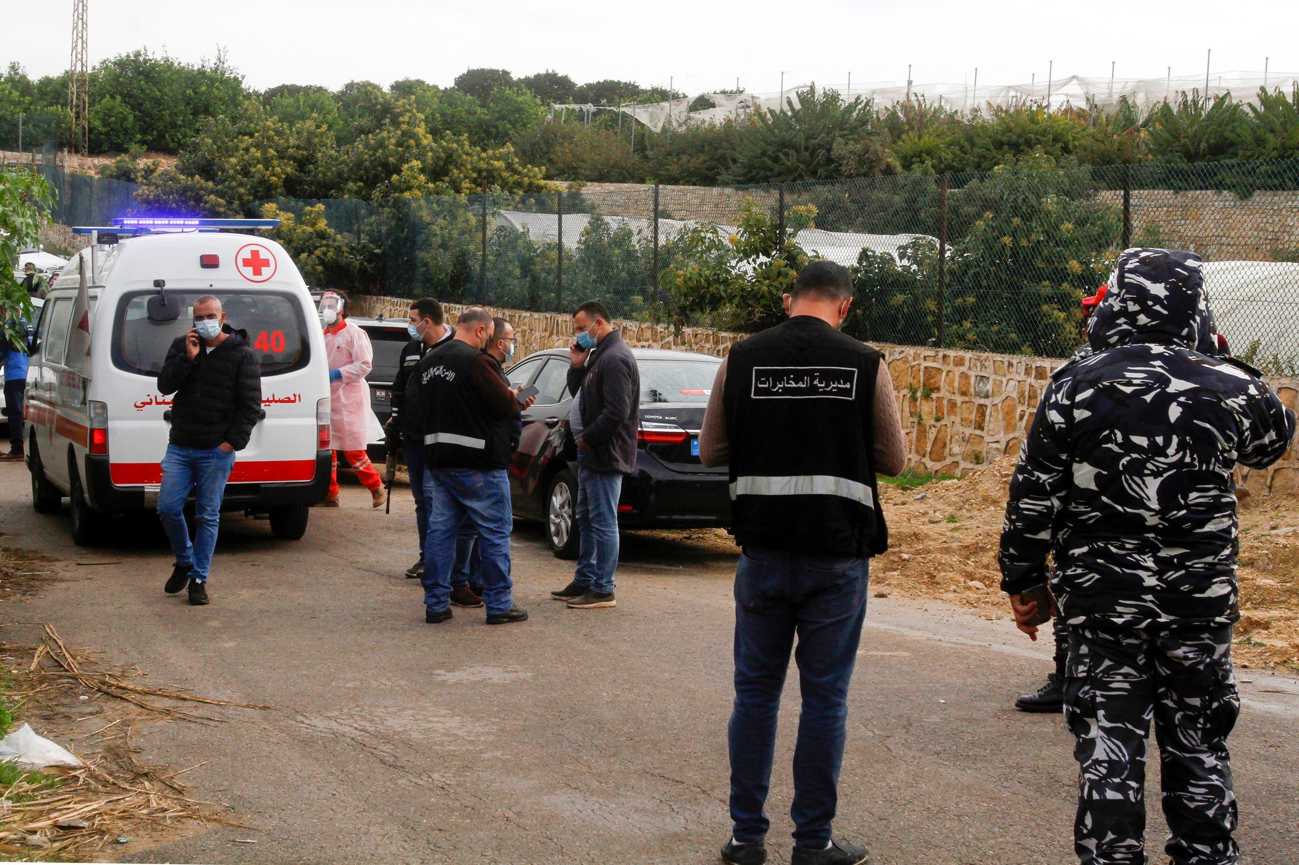 از محلی که جسد لوکمان اسلیم پیدا شد (4 فوریه 2021 - France Press)
