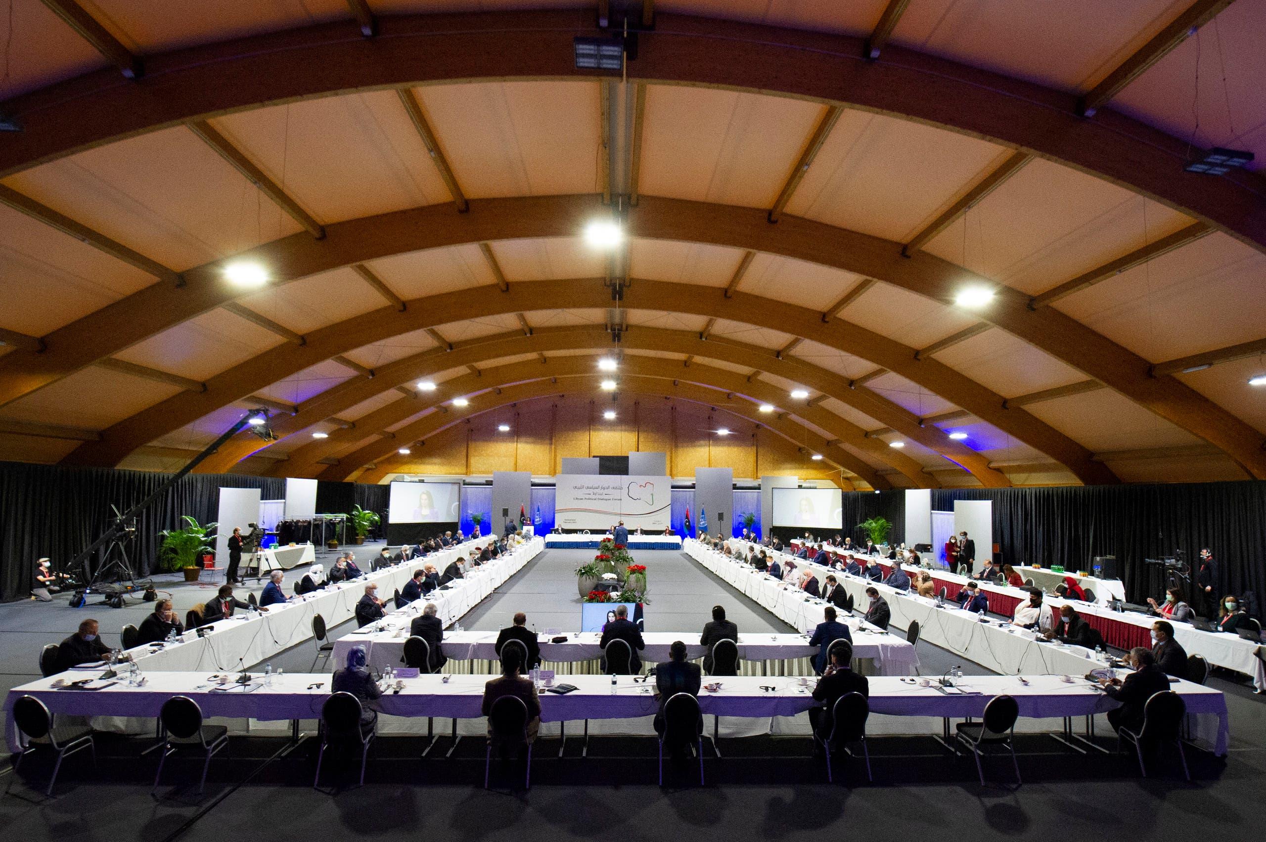 از گفتگوی لیبی در ژنو (بایگانی - فرانس پرس)