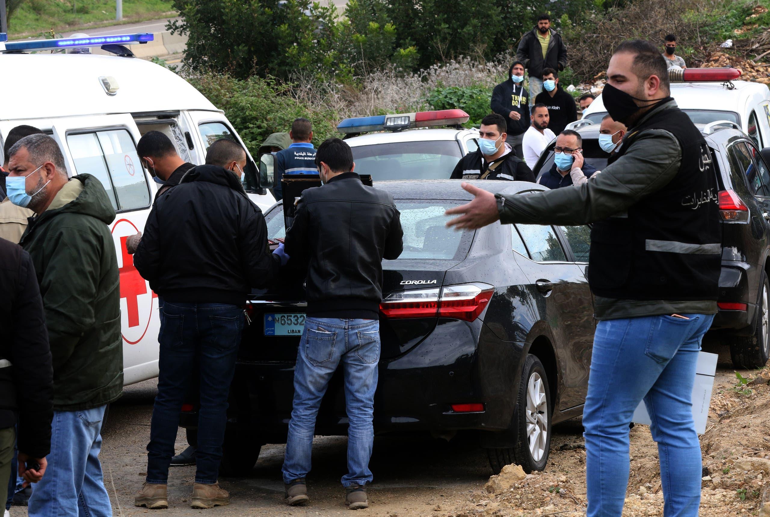 من مكان العثور على جثة لقمان سليم يوم 4 فبراير 2021 (فرانس برس)