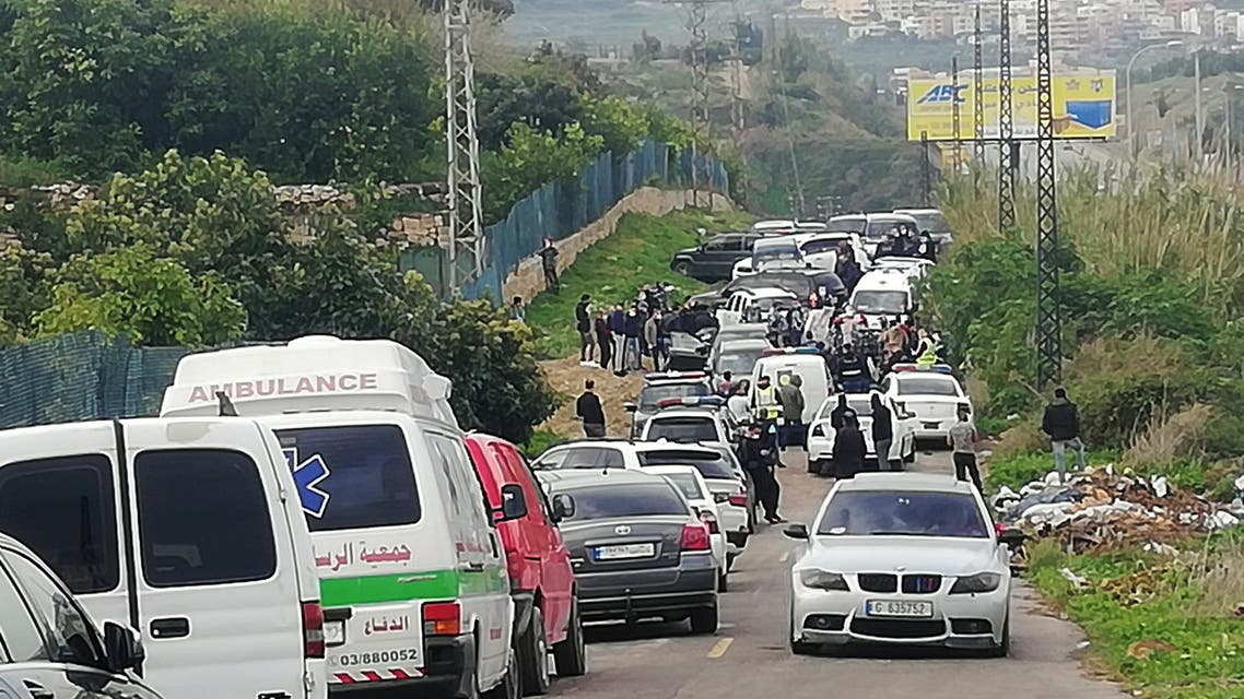 Police gather at a site where Lokman Slim, a prominent Lebanese Shia critic of Iran-backed Hezbollah was found killed in a car. (Reuters)