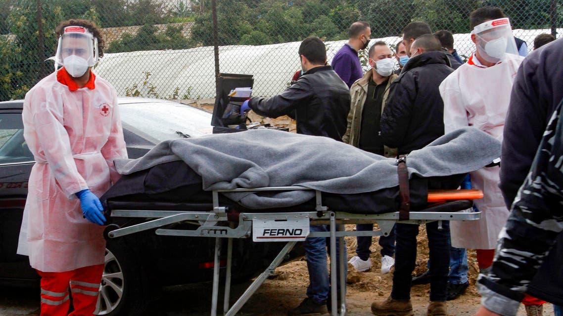 نقل جثة لقمان سليم (4 فبراير 2021- فرانس برس)