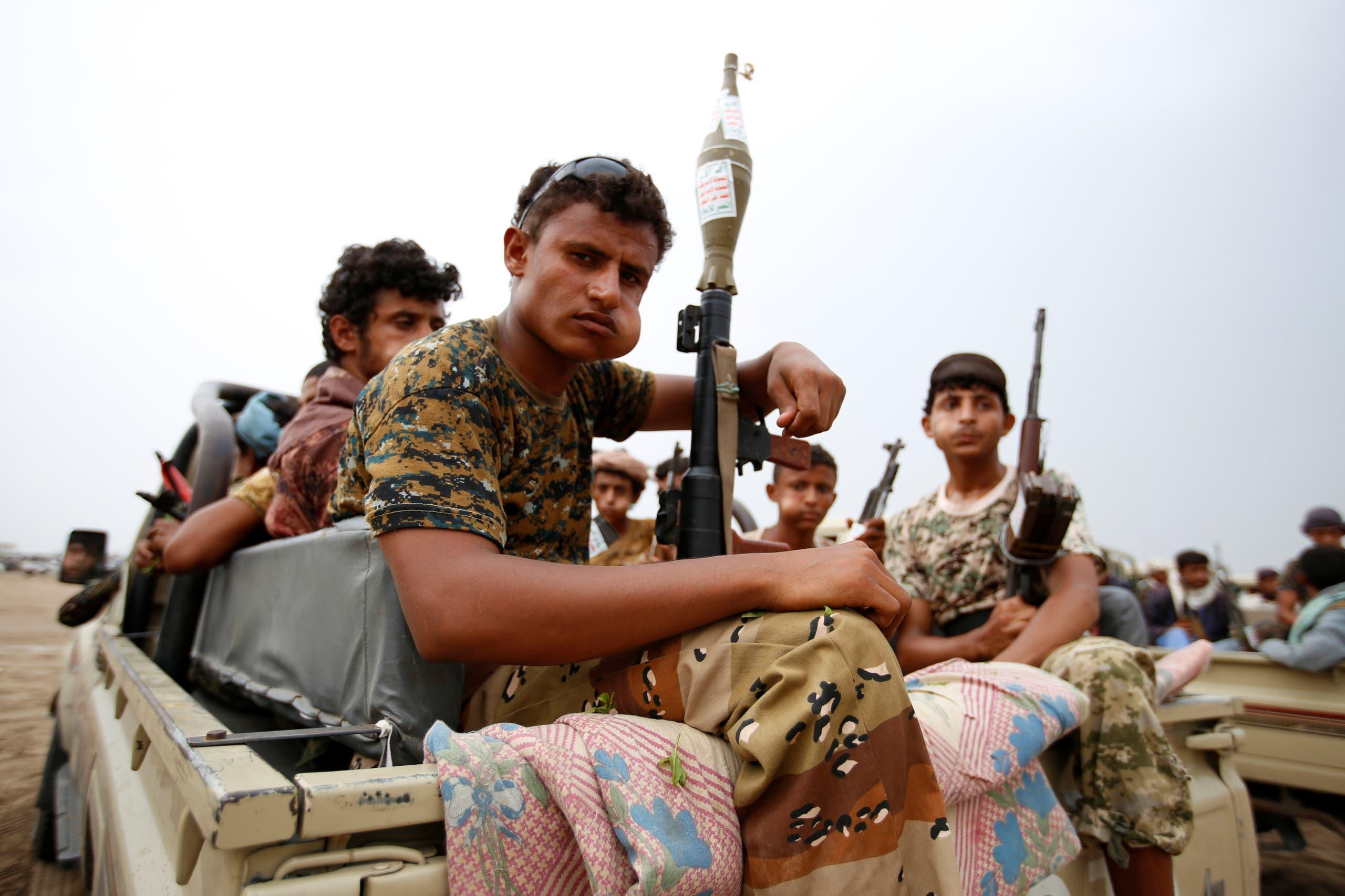 اعضای شبه نظامی حوثی در حدیده (رویترز)