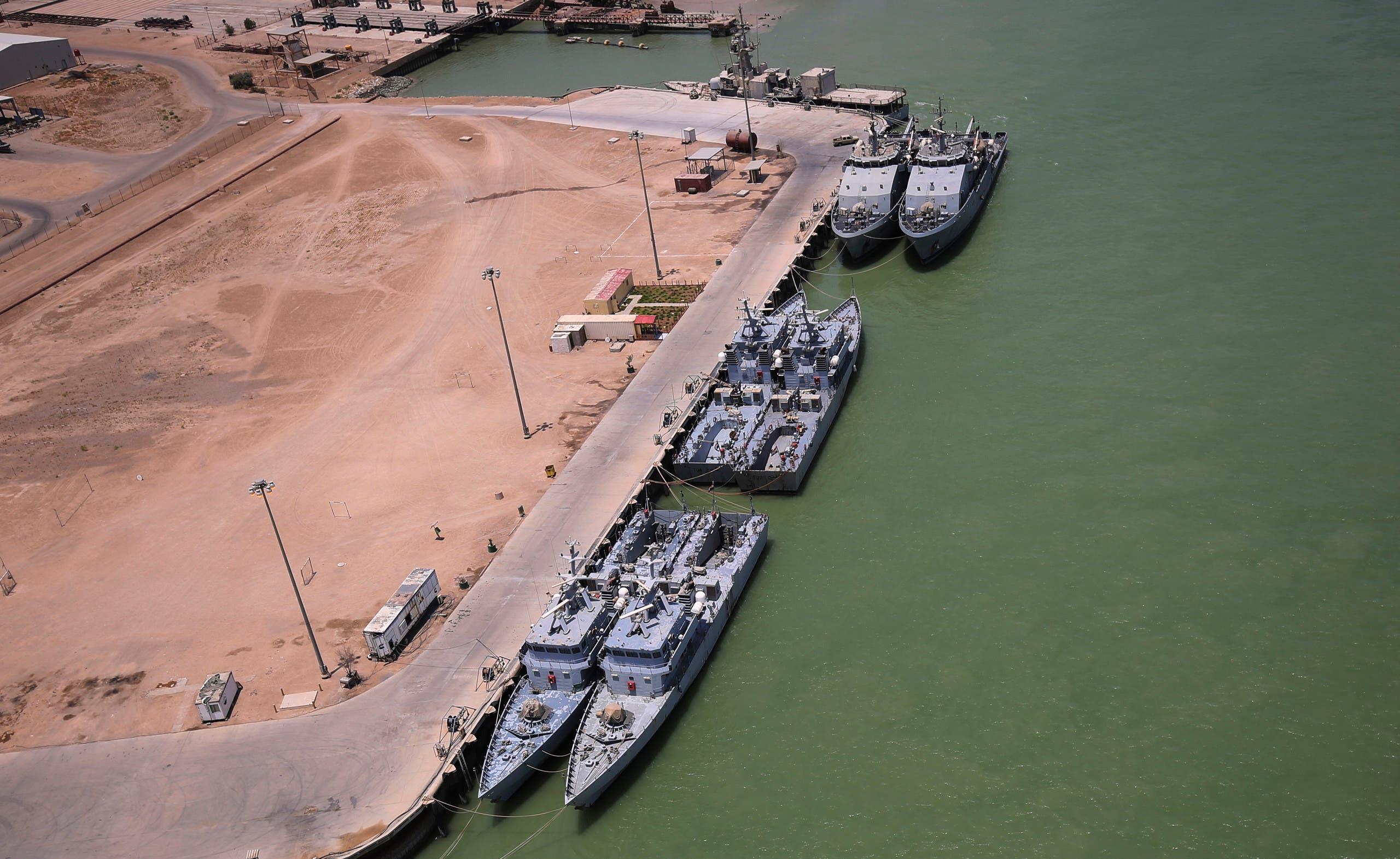 ميناء أم قصر يوم 15 يوليو 2020
