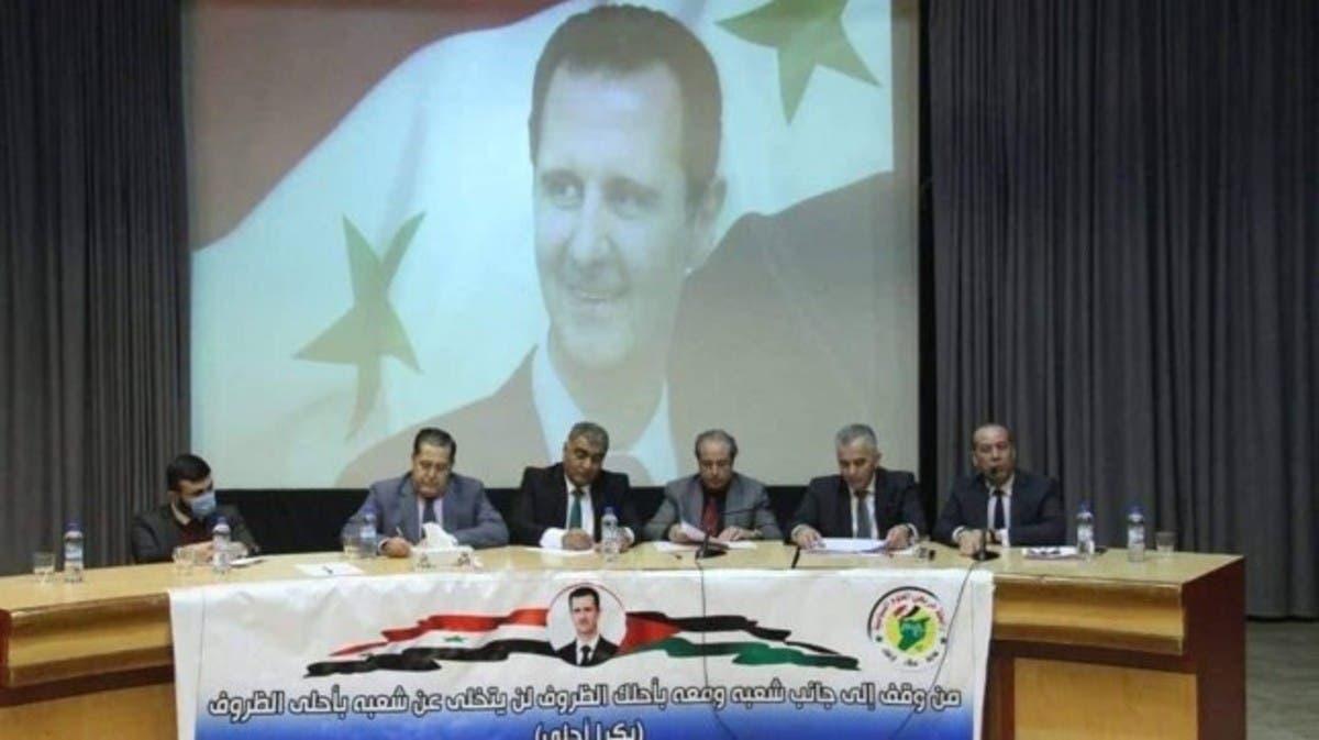 بحضور اتحاد الصحفيين.. الأسد يروج ترشحه للرئاسة