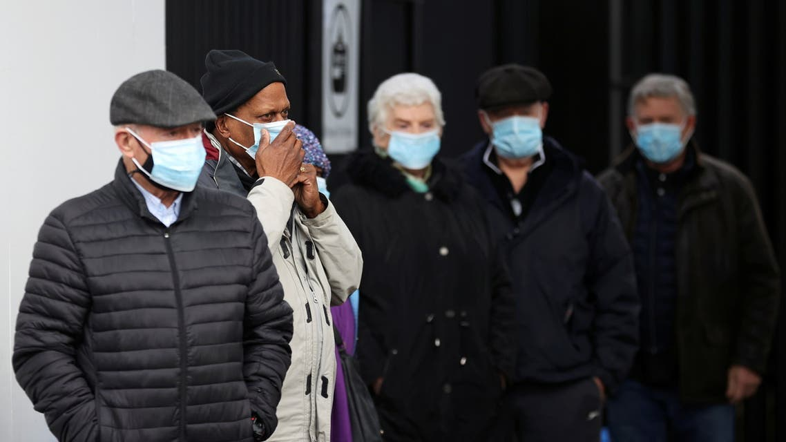 People queue as they wait to receive the COVID-19 vaccine at Crystal Palace Football Club Vaccination Centre, amid the outbreak of the coronavirus disease (COVID-19) in London, Britain February 4, 2021. (Reuters)
