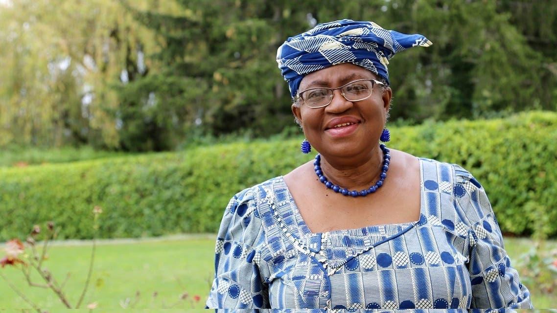 Ngozi Okonjo-Iweala poses outside a Nigerian diplomatic residence in Chambesy, near Geneva, Sept. 29, 2020. (Reuters)