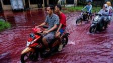 Batik dye causes blood-red flood in Indonesian village