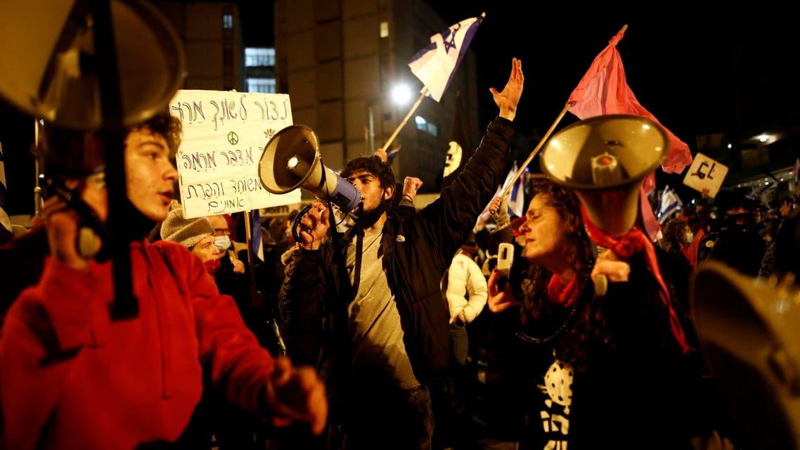 People protest against Israeli PM Netanyahu's alleged corruption in Jerusalem. (Reuters)