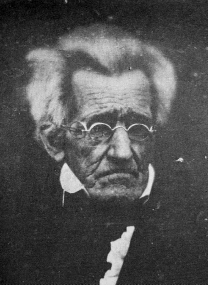 صورة فوتوغرافية التقطت بين عامي 1844 و1845 لأندرو جاكسون